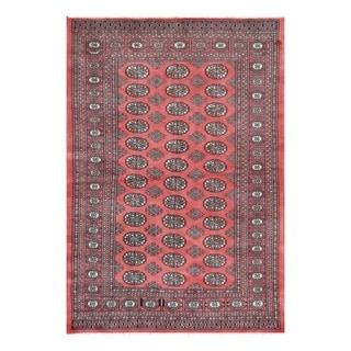 Herat Oriental Pakistani Hand-knotted Tribal Bokhara Wool Rug (4'2 x 6'1)