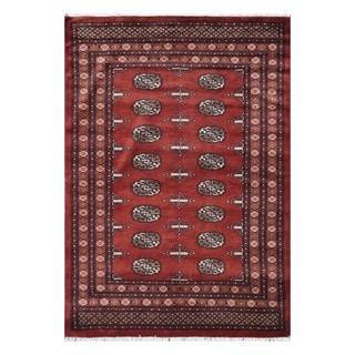 Herat Oriental Pakistani Hand-knotted Tribal Bokhara Wool Rug (4'2 x 6')