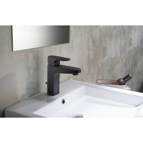 Stufurhome Jackson 1.2 GPM Single Hole Single-lever Matte Black Faucet