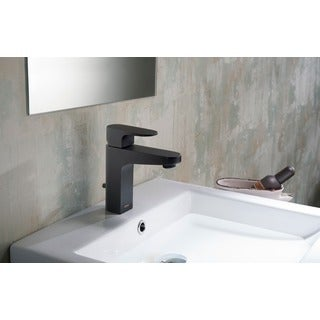 Stufurhome Jackson 1.2 GPM Single Hole Single Lever Matte Black Faucet