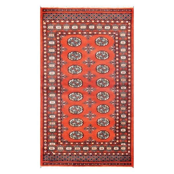 Handmade Bokhara Wool Rug (Pakistan) - 3' x 5'3