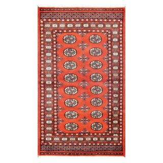 Herat Oriental Pakistani Hand-knotted Tribal Bokhara Wool Rug (3' x 5'3)