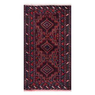 Herat Oriental Afghan Hand-knotted Tribal Balouchi Wool Rug (3'7 x 6'6)