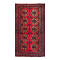 Herat Oriental Afghan Hand-knotted Tribal Balouchi Wool Rug (3'6 x 6'5) - 3'6 x 6'5