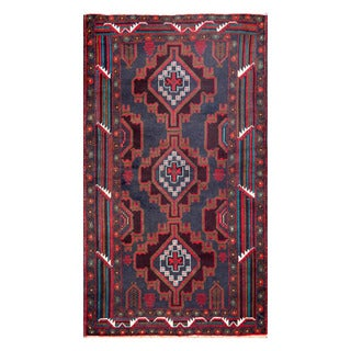 Herat Oriental Afghan Hand-knotted Tribal Balouchi Wool Rug (3'6 x 6'2)