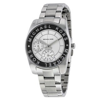 Michael Kors Women's Ryland Multi-Function Silver-Tone Stainless Steel Bracelet Watch MK6233