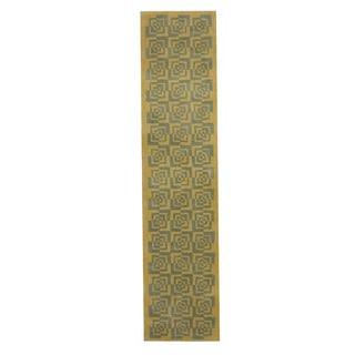 Herat Oriental Indo Hand-tufted Tibetan Wool Runner (2'2 x 9'6)