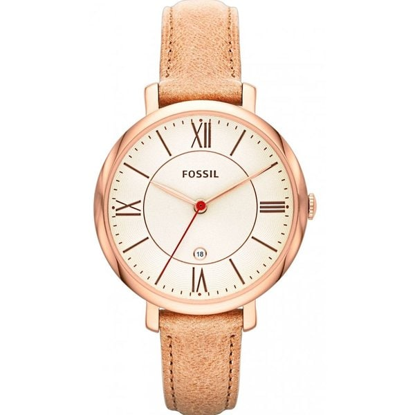 Fossil Women's Jacqueline Tan Dial Camel Brown Leather Watch ES3487