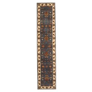 Herat Oriental Indo Hand-tufted Mahal Wool Runner (2'7 x 12')