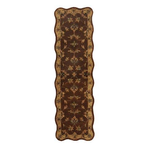 Handmade Mahal Wool Runner (India) - 2' x 7'