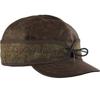 Stormy Kromer 'Waxed Cotton Cap' with Harris Tweed