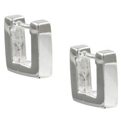 Sterling Essentials Sterling Silver Mini Square Hinged Hoop Earrings