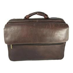 David King Leather Cafe Carry On Overnight Laptop Case