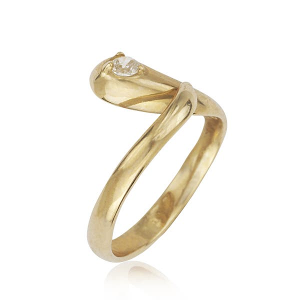 14k Yellow Gold Toe Ring Infinity CZ Size Adjustable