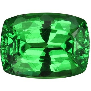 Cushion-cut 8.3x6.2mm 2ct TGW Tsavorite