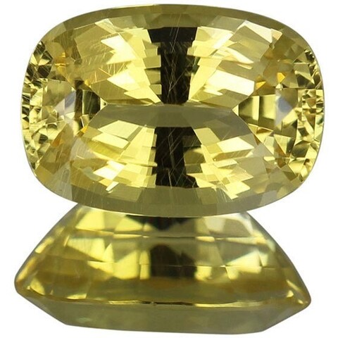 Cushion-cut 6.3x9mm 1 3/4ct TGW Golden Danburite