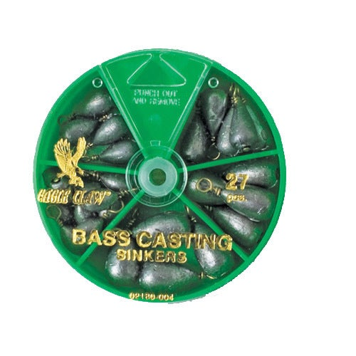 Eagle Claw Sinker Assortment Bass Casting (Per 27)