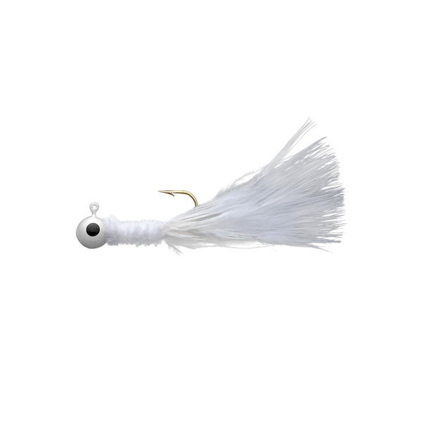 Eagle Claw White Crappie Jig 1/16-ounce