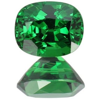 Cushion-cut 5.7x7.1mm 1 2/5ct TGW Tsavorite - Green