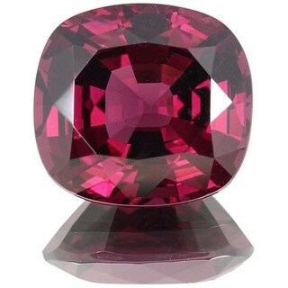 Cushion-cut 13.8x14.8mm 15ct TGW Rhodolite