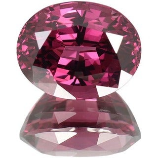 Oval-cut 10.6x13.3mm 10 1/10ct TGW Rhodolite Garnet