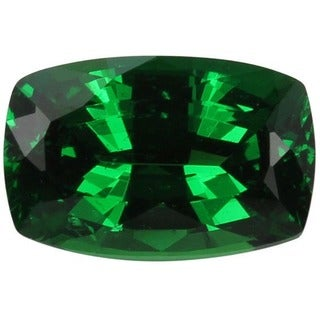 Cushion-cut 6x9mm 2ct TGW Tsavorite