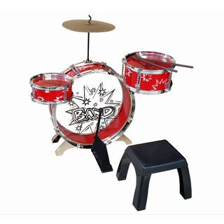 Kiddy Jazz Drum Set with Stool|https://ak1.ostkcdn.com/images/products/10409700/P17510532.jpg?impolicy=medium