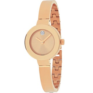 Movado Women's Bold Round Rose Gold-tone Stainless Steel Bracelet Watch