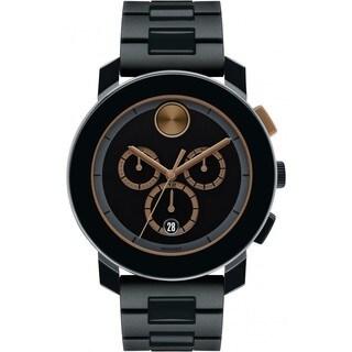 Movado Men's 3600271 Bold Round Black Stainless Steel Bracelet Watch