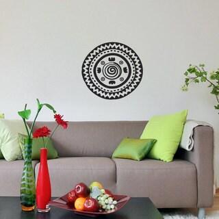 Ornament Pattern Black Vinyl Sticker Wall Art