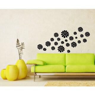 Flowers Black Vinyl Sticker Wall Art