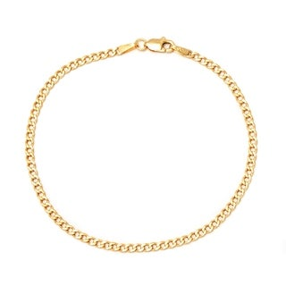 Pori 10k Yellow Gold Cuban Chain Bracelet