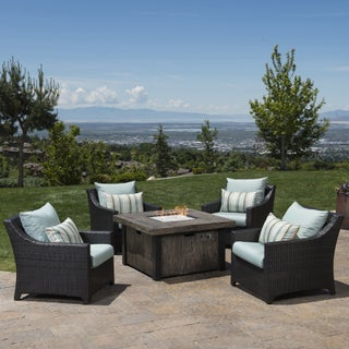 Deco 5-piece Fire Chat Set by RST Brands (Option: Bliss Blue)