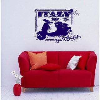 Italy Stamp Travelling Vinyl Sticker Wall Art