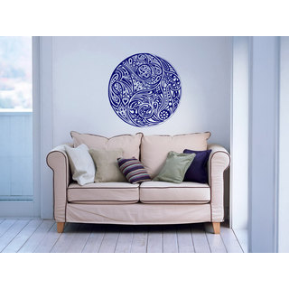 Taoism (Daoism) Symbol Navy Blue Vinyl Sticker Wall Art