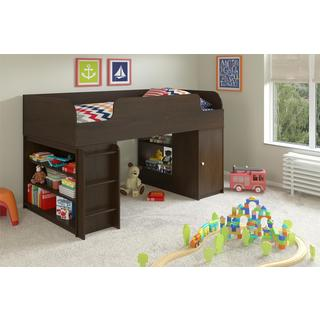 Altra Elements Resort Cherry Loft Bed with Bookcase and Toy Box by Cosco