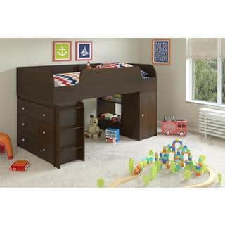 Altra Elements Resort Cherry Loft Bed with Dresser and Toy Box Bookcase by Cosco|https://ak1.ostkcdn.com/images/products/10409924/P17510719.jpg?impolicy=medium