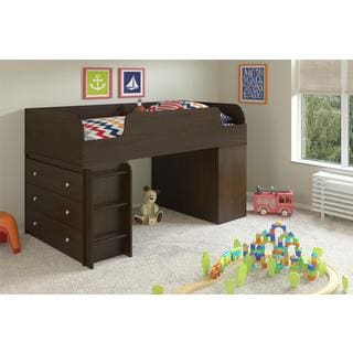 Altra Elements Resort Cherry Loft Bed with Two Dressers by Cosco