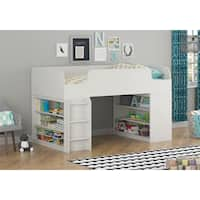 Altra Elements White Loft Bed with Two Bookcases by Cosco
