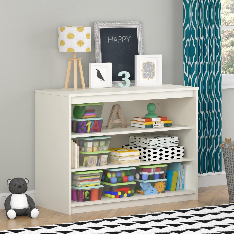 Avenue Greene Raven Loft Bed Collection Kidsu0027 White Wood 3 Shelf Bookcase