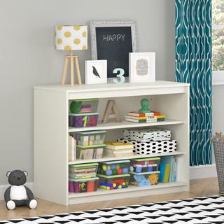 Avenue Greene Raven Loft Bed Collection Kids' White Wood 3-shelf Bookcase