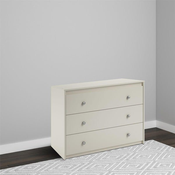 Avenue Greene Raven White 3-drawer Dresser