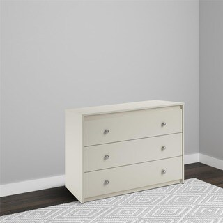 Avenue Greene Raven White Wood 3-drawer Dresser