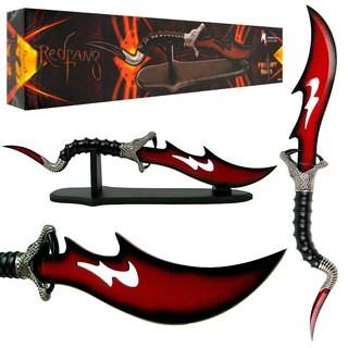 Whetstone Fantasy Master Red fang Viper Dagger Fan