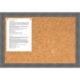 Dixie Grey Rustic Cork Board - Medium' Message Board 26 x 18-inch