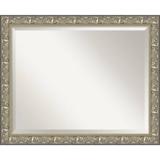 Renaissance Silver Wall Mirror - Large 32 x 26-inch