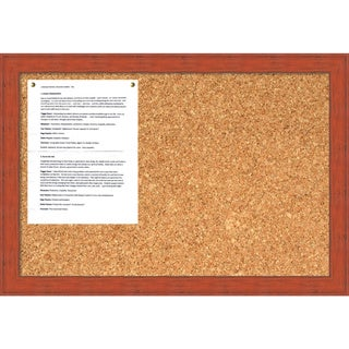 Bourbon Orange Rustic Cork Board - Medium' Message Board 26 x 18-inch