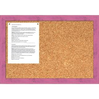 Petticoat Pink Rustic Cork Board - Medium' Message Board 26 x 18-inch