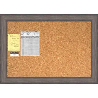 Country Barnwood Cork Board - Large' Message Board 41 x 29-inch