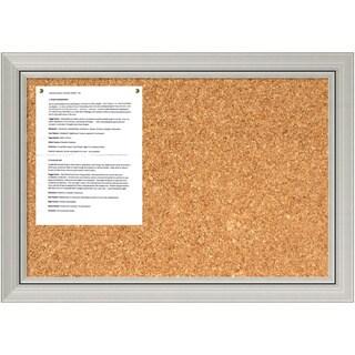 Romano Silver Cork Board - Medium' Message Board 28 x 20-inch